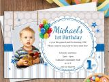 Personalised 1st Birthday Invitations Boy 10 Personalised Boys 1st First Birthday Party Photo