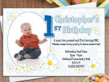 Personalised 1st Birthday Invitations Boy 10 Personalised Boys First 1st Birthday Party Photo