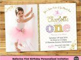 Personalised 1st Birthday Invitations Ebay Ballerina Personalised Invitation Invite 1st First
