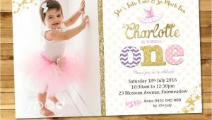 Personalised 1st Birthday Invitations Ebay Ballerina Personalised Invitation Invite 1st First