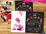 Personalised 1st Birthday Invitations Ebay Minnie Mouse Mickey Personalised Invitations Invite 1st