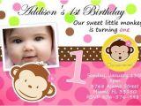 Personalised 1st Birthday Invitations Ebay Mod Monkey Birthday Party Invitation Photo 1st Baby Shower