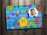 Personalised 1st Birthday Invitations Ebay Monster Little Funny Birthday Party Invitation Custom 1st
