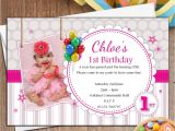 Personalised 1st Birthday Invitations Girl Uk 10 Personalised Girls 1st First Birthday Party Photo