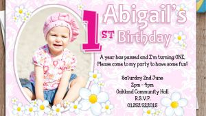 Personalised 1st Birthday Invitations Girl Uk 10 Personalised Girls First 1st Birthday Party Photo