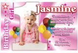 Personalised 1st Birthday Invitations Girl Uk Personalised Girls First 1st Birthday Party Anouk