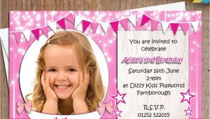 Personalised 1st Birthday Invitations Uk 10 Personalised Girls Birthday Party Photo Invitations