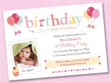 Personalised 1st Birthday Invitations Uk 25 X Girls Personalised Birthday Party Invitations