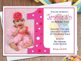 Personalised 1st Birthday Invitations Uk Personalised Girls First 1st Birthday Party Photo