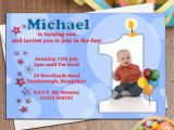 Personalised 1st Birthday Invites 10 Boys Personalised First 1st Birthday Party Photo