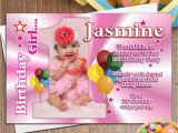 Personalised 1st Birthday Invites 10 Girls Personalised First 1st Birthday Party Photo