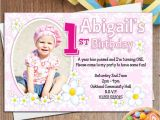 Personalised 1st Birthday Invites 10 Personalised Girls First 1st Birthday Party Photo
