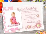Personalised 1st Birthday Invites 10 Personalised Girls First Birthday Party Photo