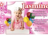 Personalised 1st Birthday Invites Personalised Girls First 1st Birthday Party Anouk