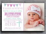 Personalised Baptism Invitations Uk Clcdesigns Personalised Bunting Girls Christening
