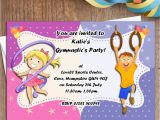 Personalised Birthday Invites Free 10 Personalised Boys Girls Gymnastics Dance Birthday Party