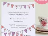 Personalised Birthday Invites Free Personalised Bunting Party Invitations by Martha Brook