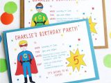 Personalised Birthday Invites Free Superhero Personalised Birthday Party Invitations by