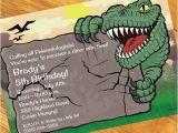 Personalised Dinosaur Party Invitations Dinosaur Party Personalized Invitations