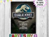 Personalised Dinosaur Party Invitations Jurassic Park Dinosaur Birthday Party Invitations