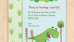 Personalised Dinosaur Party Invitations Personalised Dinosaur Party Invitations by Made by Ellis