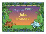 Personalised Dinosaur Party Invitations Personalized Dinosaur Birthday Party Invitations Zazzle