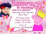 Personalised Peppa Pig Party Invitations 10 Personalised Pink Peppa Pig Birthday Party Invitations