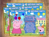 Personalised Peppa Pig Party Invitations Invitation Peppa Pig Party Invitation Custom Printable