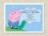 Personalised Peppa Pig Party Invitations Personalised George and Dinosaur Peppa Pig Party Birthday
