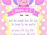 Personalised Peppa Pig Party Invitations Personalised Peppa Pig Party Invitations and Envelopes X