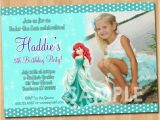 Personalized Ariel Birthday Invitations Ariel the Little Mermaid Invitation by Kidspartyprintables