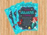 Personalized Ariel Birthday Invitations Items Similar to Little Mermaid Birthday Invitation