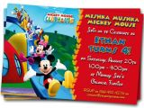 Personalized Birthday Invitations Free Mickey Mouse Clubhouse Invitations Printable Personalized