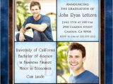 Personalized College Graduation Party Invitations Personalized College Graduation Announcement Cross