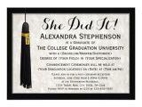 Personalized College Graduation Party Invitations She Did It Tassel College Graduation Card Zazzle Com