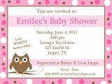 Personalized Photo Baby Shower Invitations 20 Personalized Baby Shower Invitations Pink Baby Owl
