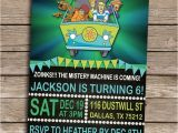 Personalized Scooby Doo Party Invitations Scooby Doo Birthday Invitation Personalized Printable