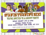 Personalized Scooby Doo Party Invitations Scooby Doo Birthday Invitation Personalized with by