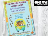 Personalized Scooby Doo Party Invitations Scooby Doo Birthday Invitation Printable 5×7