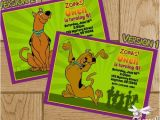 Personalized Scooby Doo Party Invitations Scooby Doo Printable Birthday Invitation Digital File