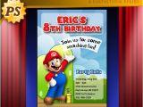 Personalized Super Mario Birthday Invitations Items Similar to Personalized Super Mario Birthday Party