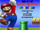 Personalized Super Mario Birthday Invitations Super Mario Birthday Party Invitations Personalized Custom