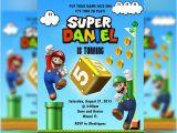 Personalized Super Mario Birthday Invitations Super Mario Invitation Mario & Luigi Mario Bros Birthday
