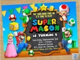 Personalized Super Mario Birthday Invitations Super Mario Printable Super Mario Party Mario Chalkboard