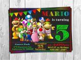 Personalized Super Mario Birthday Invitations Super Mario Run Digital Birthday Invitations Personalized