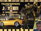 Personalized Transformer Birthday Invitations Customized Printable Transformers Bumble Bee Birthday