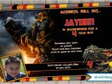 Personalized Transformer Birthday Invitations Transformers 4 Personalized Photo Birthday Invitations 5