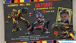 Personalized Transformer Birthday Invitations Transformers 4 Personalized Photo Birthday Invitations