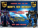 Personalized Transformer Birthday Invitations Transformers Birthday Invitation Kustom Kreations