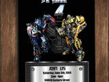 Personalized Transformer Birthday Invitations Transformers Digital Birthday Invitation Bumble Bee